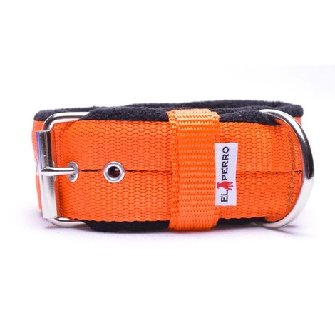 4cm Width Fleece Comfort Dog Collar – Orange