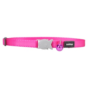 Plain Hot Pink Kitten Collar
