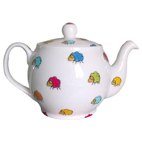 Sheep Print Two Cup Tea Pot