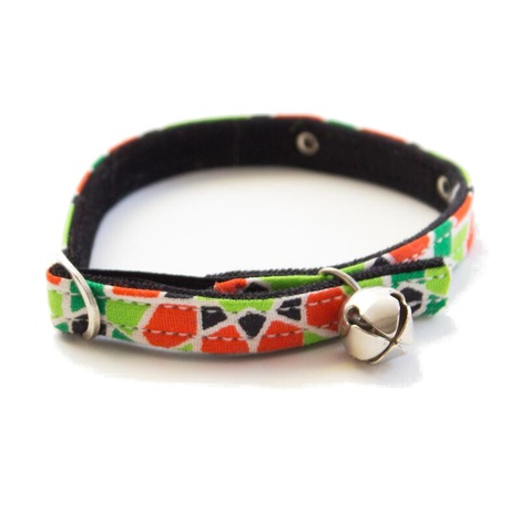 Mosaic Black Cat Collar