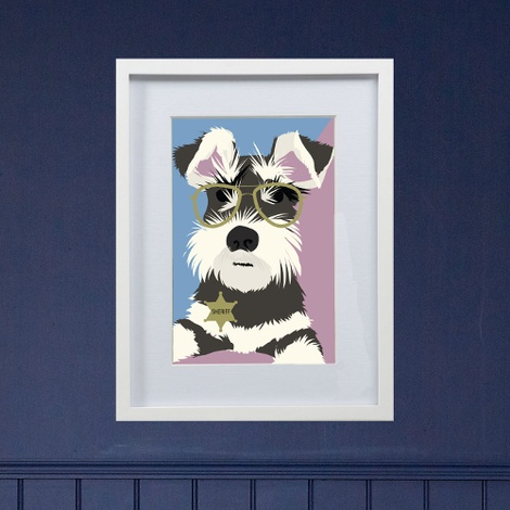 Framed Bespoke Pet Portrait 4