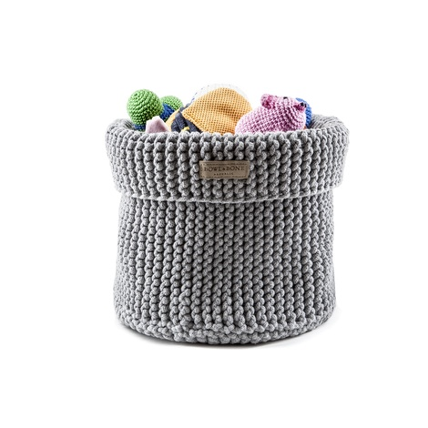 Cotton Toy Basket - Grey