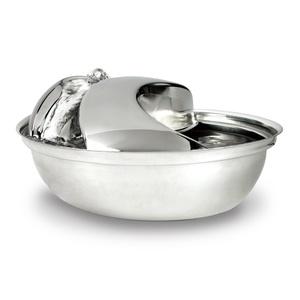 Rain Drop Stainless Steel Pet Drinking Bowl