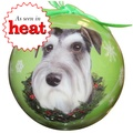 Uncropped Schnauzer Christmas Bauble