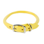 Auburn Leathercrafters - Rolled Leather Dog Collar – Yellow