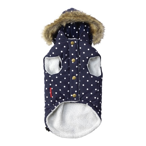 Polka Dot Dog Gilet – Navy 2