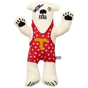 Terri Leahy - Haystacks the Polar Bear - Personalised - Red