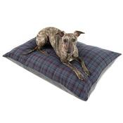PetsPyjamas - Personalised Blue Check Dog Doza Bed
