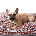Union Jack Linen Pillow Dog Bed 2