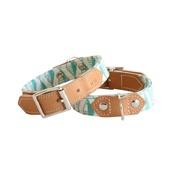 Hiro + Wolf - Green Geo Dog Collar