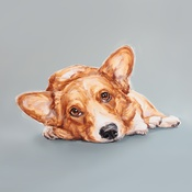 Paint My Dog  - Corgi Art Print