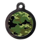 PS Pet Tags - Camo Pet ID Tag - Green