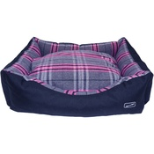 Hem & Boo - Pink Check Rectangle Dog Bed
