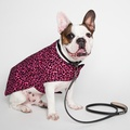 Personalised Pink Leopard Print Dog Coat
