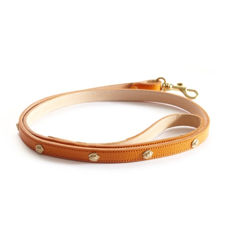 Woof Leather Dog Lead - Orange 3