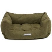 Mutts & Hounds - Forest Green Tweed Boxy Bed