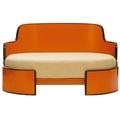 All-Round Amber & Brown Dog Sofa