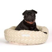 Mutts & Hounds - Sage Bone Linen Donut Bed