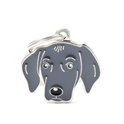 My Family - Weimaraner Engraved ID Tag