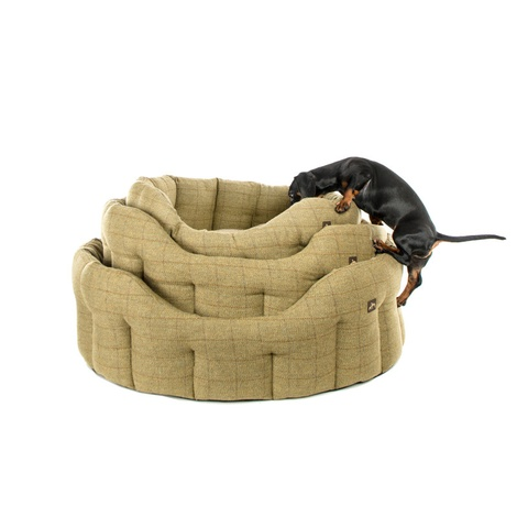 Tweed Oval Dog Bed  4