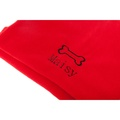 Personalised Red Dog Bone Blanket - Classic font 2