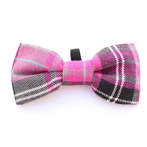 Pink Tartan Bow Tie