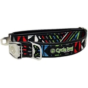 Cycle Dog - Black-Multi Modern Art Dog Collar