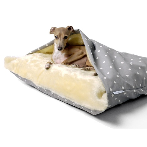 Snuggle Bed - Dotty Dove Grey