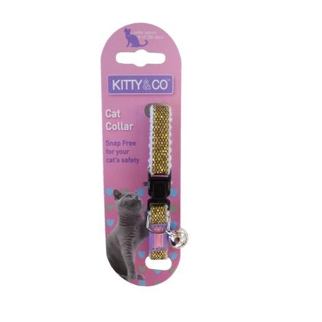 Glitter Cat Collar - Gold