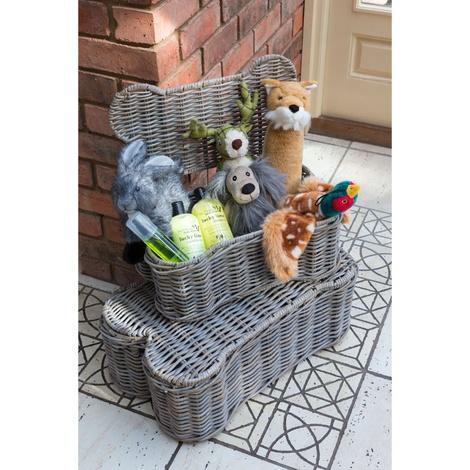Rattan Kubu Bone Lidded Storage Dog Basket 3