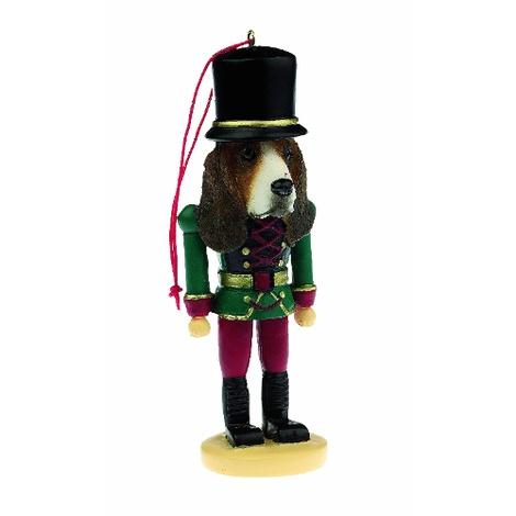 Basset Hound Nutcracker Soldier Ornament