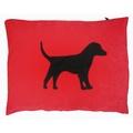 Labrador Dog Doza - Black on Red