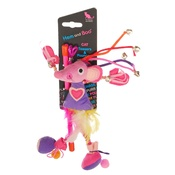 Hem & Boo - Cheeky Mouse Teaser Cat Toy - Pink