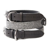 Mutts & Hounds - Stoneham Grey Tweed Dog Collar