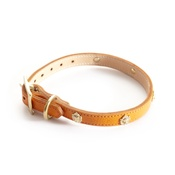 Woof! - Woof Leather Dog Collar - Orange