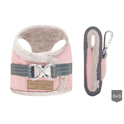 Yeti Dog Harness & Lead Set - Rose