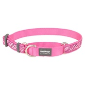 Red Dingo - Flanno Martingale Dog Collar – Hot Pink