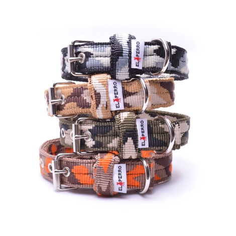 Double Dog Collar – Orange Camo 2