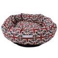 Union Jack Linen Donut Bed 2