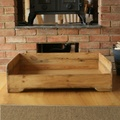 Personalised Rustic Wooden Dog Bed