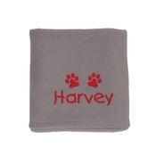 My Posh Paws - Personalised Fleece Blanket - Light Grey