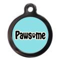 Blue Pawsome Dog ID Tag
