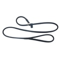 Rolled Leather Slip Dog Lead – Black