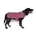 Personalised Pink Leopard Print Dog Coat 4