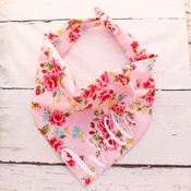Pet Pooch Boutique - Personalised Pink Vintage Dog Bandana