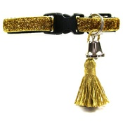 Cool Cat Collars - Gold Glamour Puss Cat Collar