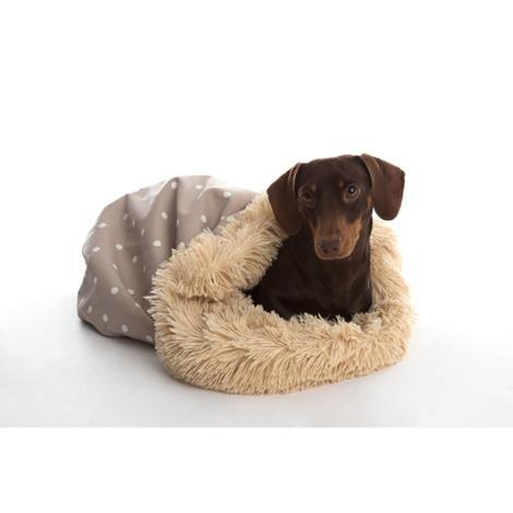 Pooch Pod Dog Bed - Dotty Camel
