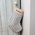 Flint Stripe Brushed Cotton Christmas Stocking 2