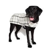 PetsPyjamas - Luxury Black & White Check Mohair Dog Coat