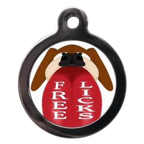 Free Licks Pet ID Tag